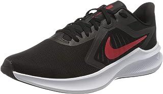 Nike Men's Downshifter 10 Running Shoe, Black/University red-White
