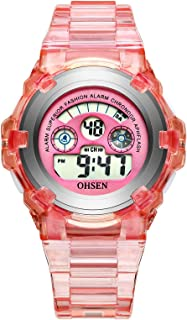 Kids Watch, Boy's Girl's Sports Digital Waterproof Outdoor Electrical Stopwatch with Alarm Kid Watches for Boys Girls