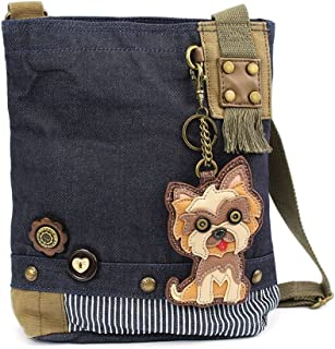 Chala Womens' Canvas Patch Crossbody Handbag