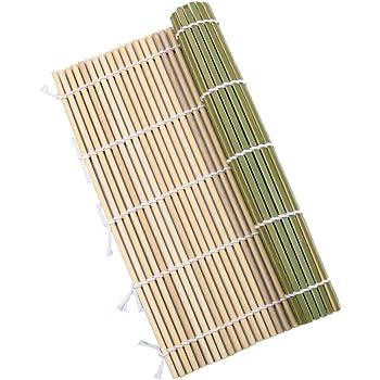 竹製 すし 巻きす 24x24cm 抗菌 寿司巻 太口 竹巻す グリーン 巻きすだれ 巻き寿司作りに グルメ キャンプ 巻き寿 太口 花見