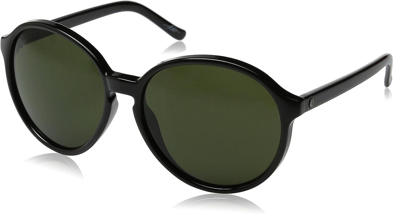 Electric Womens Riot Round Sunglasses, Gloss Black, 54 mm