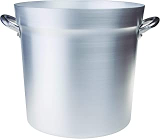 Pentole Agnelli FAMA85BS50 Olla de Tomate de Aluminio con 2 Asas, Tipo Norte, diámetro 50 cm, 98 litros, Plata