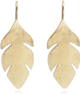 Orecchini Donna Forma a Foglia Albero Natura Autunno Colori Argento e Oro