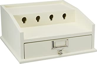 Organize It All 30121W Charging Station Dock & Organizer with Drawer