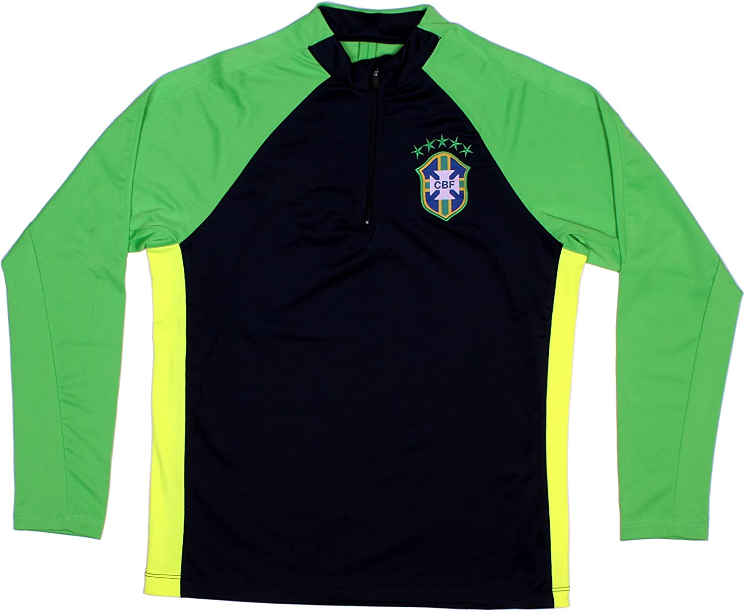Brazil Jacket Brasil Soccer Kids Youth Half Zip Neymar Tracksuit Football
