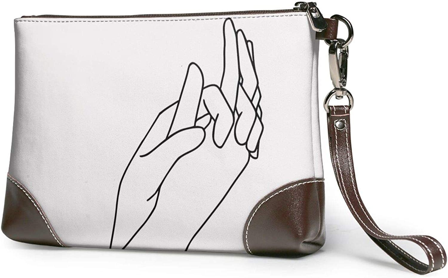 Holding Hands Line Clutch favorite Baltimore Mall Wristlet Wallet Leather Purses