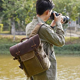 Mens Bag SLR Camera Bag Leisure Travel Bag Batik Canvas Retro Fashion Digital Camera Backpack Double Shoulder Camera Bag High capacity