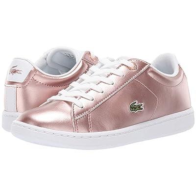Lacoste Kids Carnaby Evo (Little Kid) (Pink/White 1) Girl