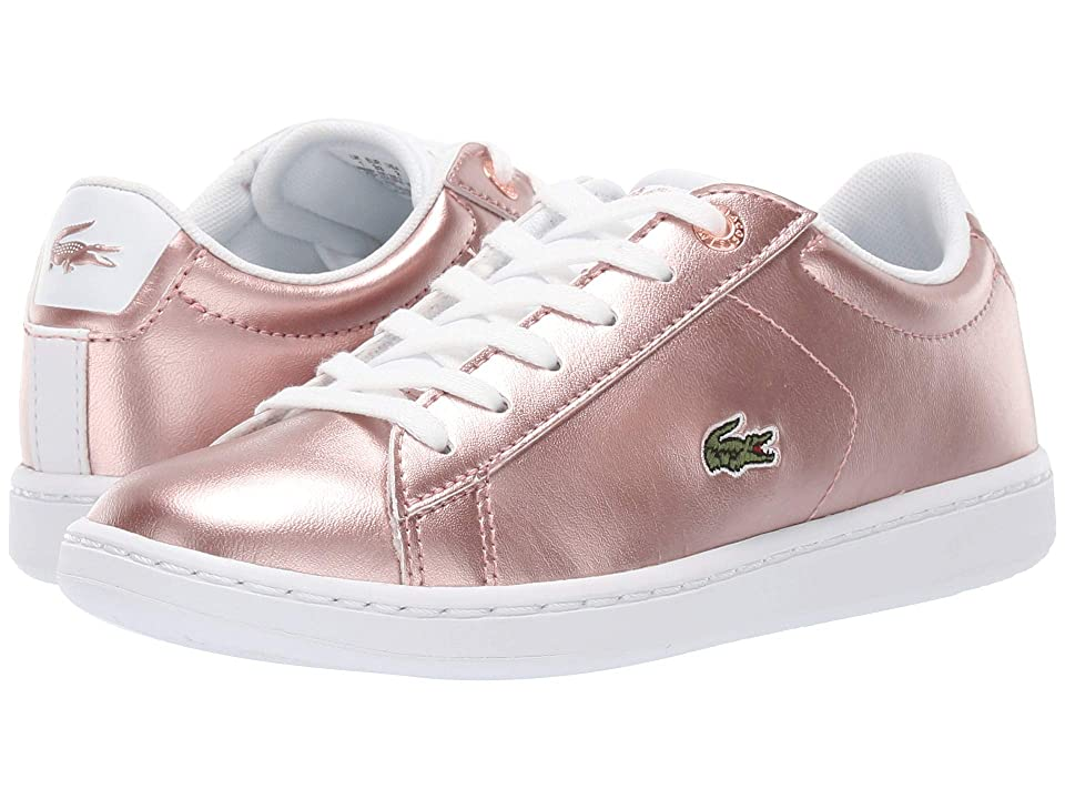 Lacoste Kids Carnaby Evo (Little Kid) (Pink/White 1) Girl