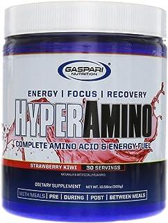 Gaspari Nutrition HyperAmino - Amino Acids - Insane Energy Strawberry Kiwi 30 Servings