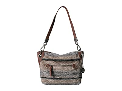 The Sak Indio Crochet Demi Hobo (Shoreline Stripe) Hobo Handbags