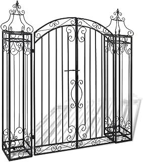 mewmewcat Ornamental Iron Garden Lawn Driveway Entry Gate Garden Gate Wrought Iron 4' x 8