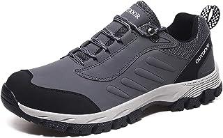JIANKE Men Trekking Shoes Lightweight Walking Trainers Breathable Anti-Slip Hiking Shoes