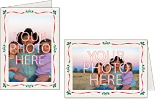Photographer's Edge, Photo Insert Card, Natural with Holiday Border, Set of 10 for 4x6 Photos