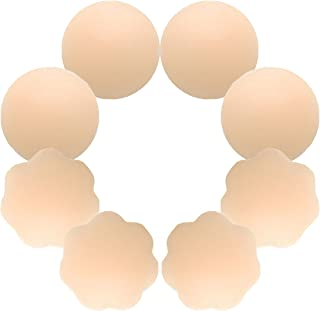 Nipple Covers 4 Pairs Womens Reusable Adhesive Invisible...