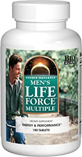 Source Naturals Men's Life Force Multiple Daily Multivitamin & Immune Health Supplement - 13 Essential Vitamins, Nutrients & Minerals - 180 Tablets