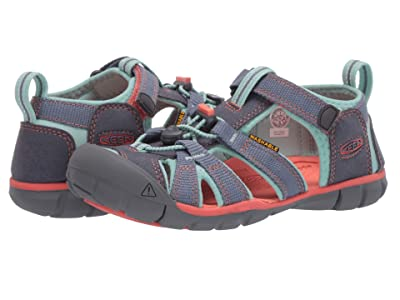 Keen Kids Seacamp II CNX (Little Kid/Big Kid) (Flint Stone/Ocean Wave) Girls Shoes