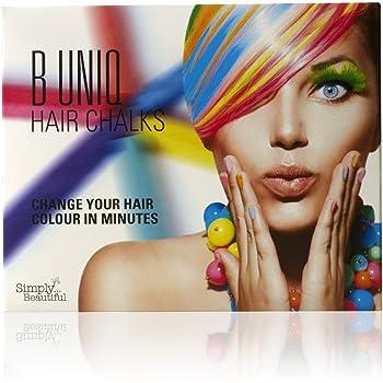 Tizas de colores para el pelo de B Uniq, ideal para Halloween, disfraces de fantasía o para actuaciones, pack de 24 tizas: Amazon.es: Belleza