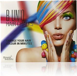 comprar comparacion Tizas de colores para el pelo de B Uniq, ideal para Halloween, disfraces de fantasía o para actuaciones, pack de 24 tizas