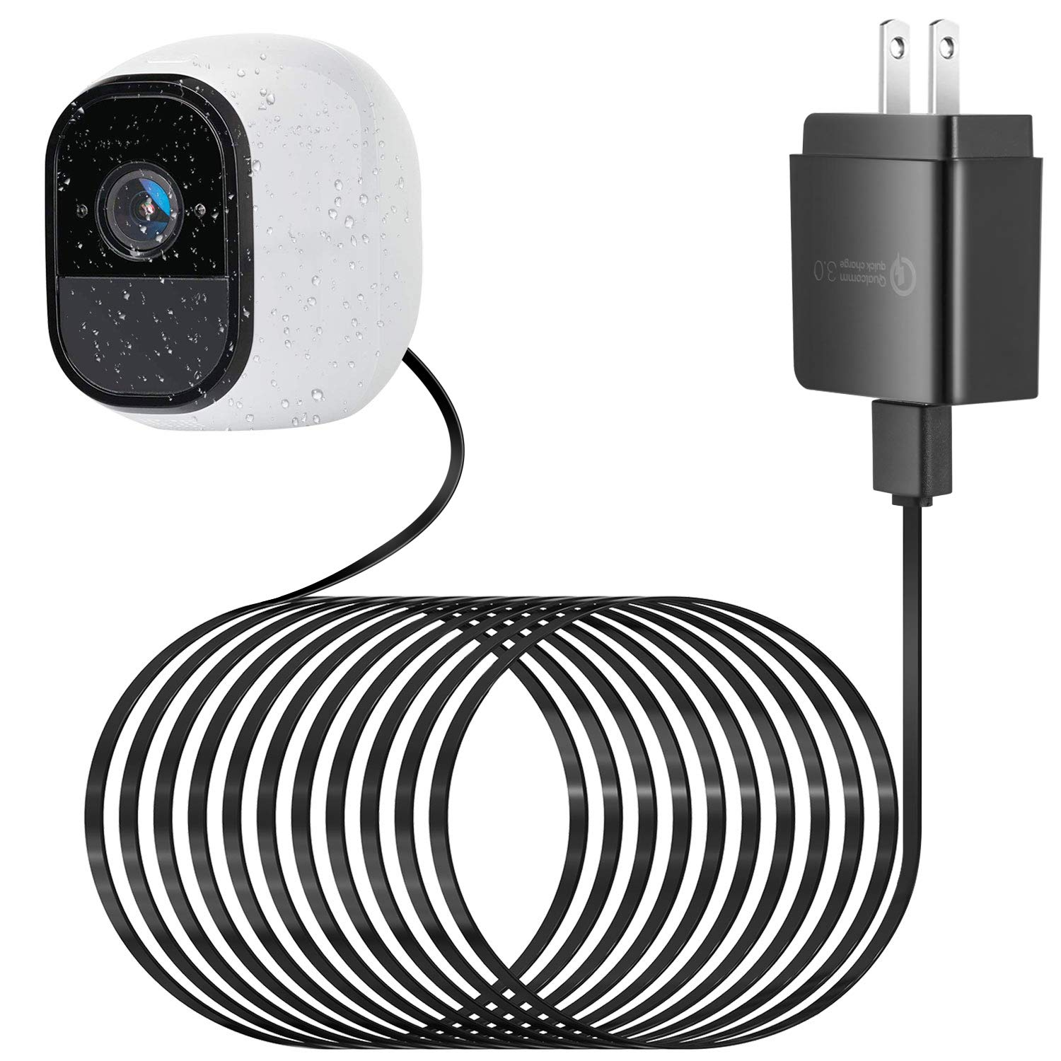 25Ft Charger Cable Weatherproof USB Cable for Arlo Pro and Arlo Pro 2 25ft Power Continuously Charging Cable 1 Pack