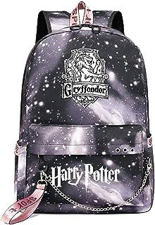 Mochila de Ocio para Estudiantes de Hogwarts, Mochila Harry Potter Grey Starry Sky, con Mochila de Interfaz de Carga USB Style-3