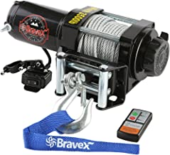 Bravex Electric 12V 3500lb/1591kg Single Line Waterproof Winch for UTV ATV Boat with Both..