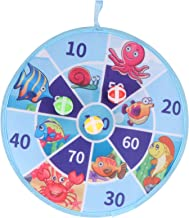 TOYMYTOY Dart Board Game with Sticky Balls Under The Sea Theme Safety Dart Board Indoor Outdoor Tossing Game Shooting Toy ...