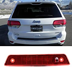 3rd Third Brake Light Center High Mount Stop Light Lamps Cargo Lights Replacement for 2005-2010 Jeep Grand Cherokee (Red)