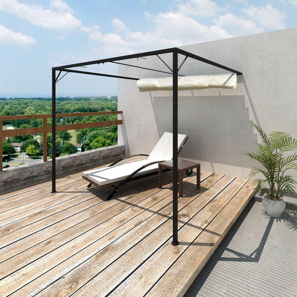 Decolla Pérgola para terraza, toldo de Pared, pérgola Plana, tejado de Madera Maciza, Cubierta de Madera: Amazon.es: Hogar