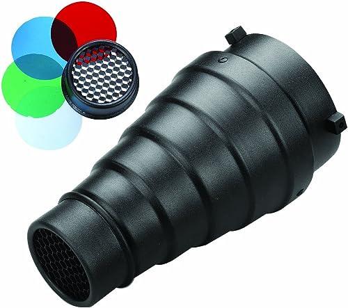 Metz SN-18 - Kit de filtros para iluminación fotográfica (con Panal de Abeja y 4 filtros de Colores)