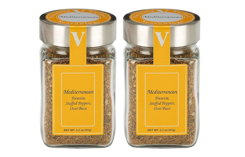 Mediterranean- Two 3.2 oz. Jars -Add flavor to chicken, vegetabl
