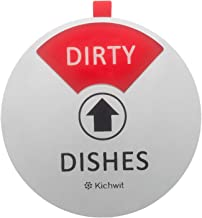 Kichwit Dishwasher Magnet Clean Dirty Sign Indicator, Works on All Dishwashers, Non-Scratch Strong Magnetic Backing, Dirty...