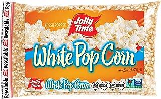 JOLLY TIME White Popcorn Kernels - Bulk Stovetop Natural Popping Corn, 2 lb. Bags (Pack of 12)