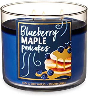 Bath and Body Works Blueberry Maple Pancakes Candle - Large 14.5 Ounce 3-wick Limited Edition Fall Cafe Candles