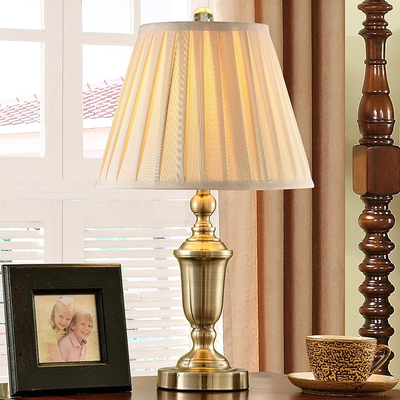 Guo Alle Kupferlampen Schlafzimmer Nachttischlampe Wohnzimmer Retro Kupferlampe Jane Europäische Tuch American Tischlampe (Farbe    1) B01N3V4QD9   Langfristiger Ruf