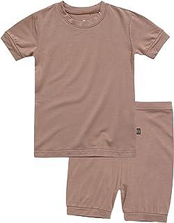 Toddler Kids Girls Boys Solid Short Soft Shirring Viscose...
