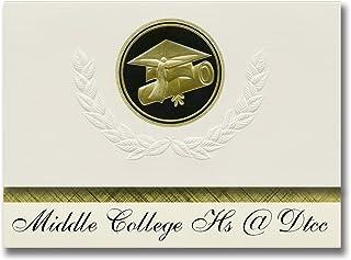 Signature Announcements Middle College Hs @ Dtcc (Durham, NC) Graduation Announcements, Presidential style, Elite package ...