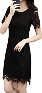 b5b9ac736e1 Collocation-Online Women Elegant Wedding Party Sexy Night Dresses 2018  Summer O Neck Short Sleeve