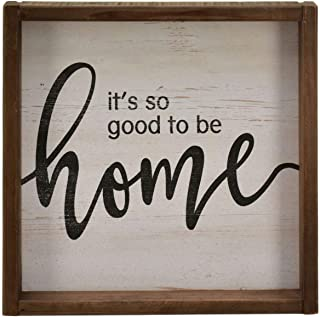 Parisloft It's So Good to Be Home Rustic Wood Signs,Wooden Framed Farmhouse Plaque,..