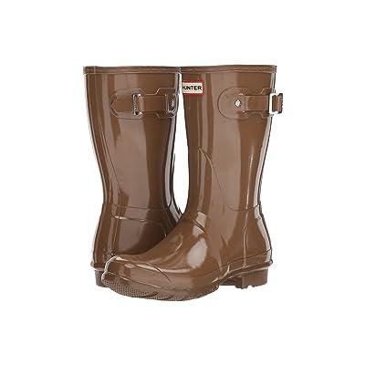 Hunter Original Short Gloss Rain Boots (Mushroom) Women