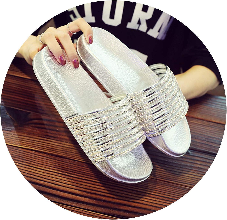 Women Indoor Home Slippers Beach Flip Flops Flat shoes Summer Slides