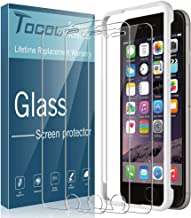TOCOL [3Pack] for iPhone 6 Plus and iPhone 6s Plus Screen Protector Tempered Glass HD Clarity Touch Accurate [9H Hardness] + Easy Installation Tray