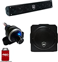 Wet Sounds Stealth 6 Surge Sound Bar w/WW-BTVC Bluetooth Controller and AS-8 8