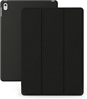 KHOMO iPad Pro 9.7 Inch Case (2016) - DUAL Black Carbon Fiber Super Slim Cover with Rubberized back and Smart Feature (Built-in magnet for sleep / wake feature) For Apple iPad Pro 9.7 Tablet