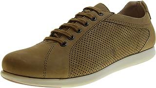 Frau FX 11G3 Taupe Beige Scarpe Uomo Sneakers Sportive Lacci Pelle Nubuck