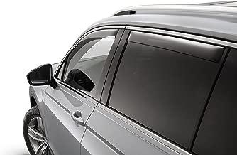 Volkswagen 2018-2019 VW Tiguan Front & Rear Tinted Side Window Deflectors Kit OEM