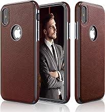 LOHASIC iPhone Xs Case, iPhone X Case Slim Thin Premium Leather Luxury PU Soft Flexible Anti-Slip Grip Scratch Resistant P...