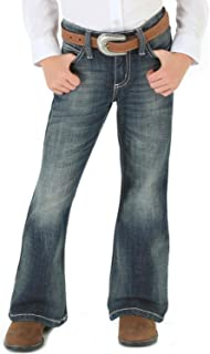 Girls' Premium Patch Thick Stitch Bootcut Jeans