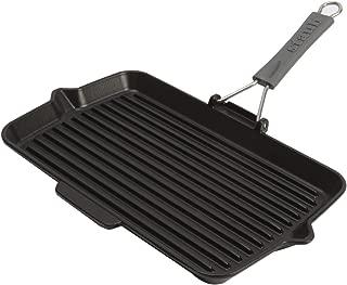 Staub Cast Iron 13.4 X 8.3-inch Rectangular Folding Grill - Matte Black