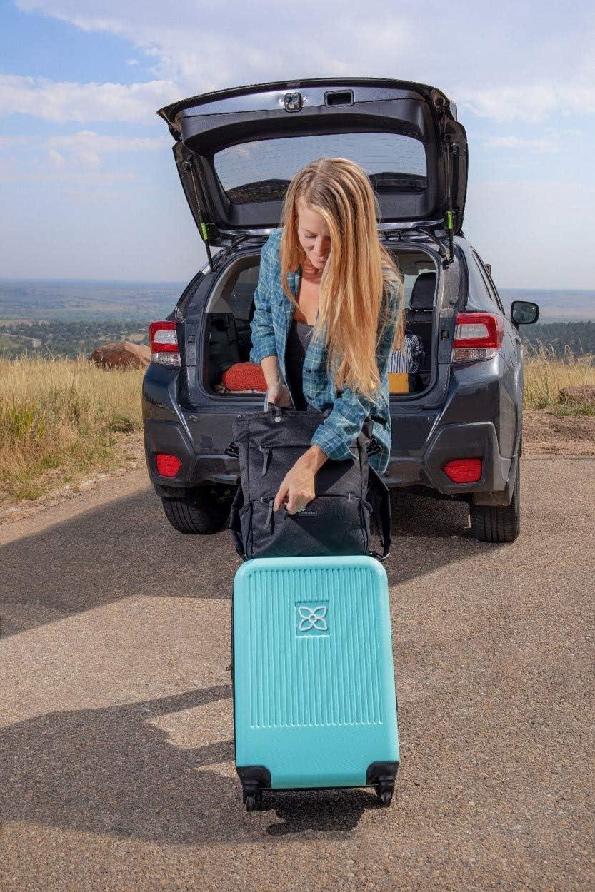 Lightweight Carry On Luggage with Spinner Wheels Travel Hardside Luggage 22 Inch Luggage Sherpani Meridian Expandable Black Durable Hardshell Suitcase
